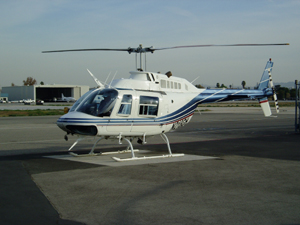 Jetranger helicopter charter flight