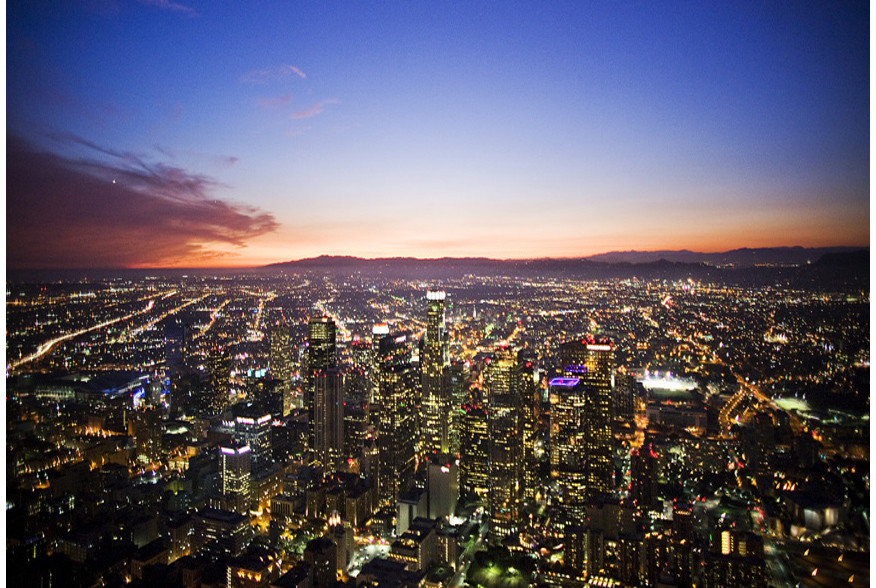 los angeles skyline view - photo #40